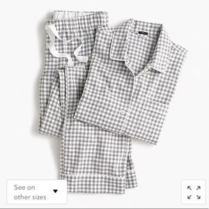 Jcrew Flannel Gingham PJ Set